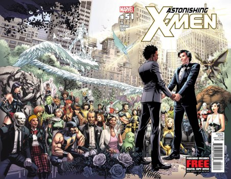 Gay Marriage of Northstar and Kyle on the Cover of Astonishing X-Men #51