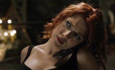 Scarlett Johansson as Black Widow chair sequence