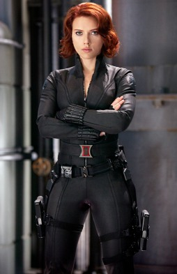 Scarlett Johansson as the Black Widow in Marvel's The Avengers