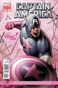 Captain American #18 Susan G. Komen for the Cure Variant Cover
