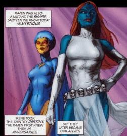Mystique and Destiny strioke a pose