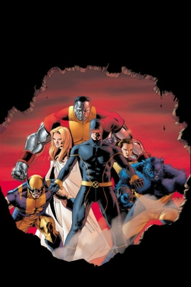 Cyclops, Wolverine, Beast, Emma Frost, Kitty Pryde, Colossus