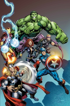 Captain America, Iron Man, Hulk, Thor, Hawkeye, Black Widow