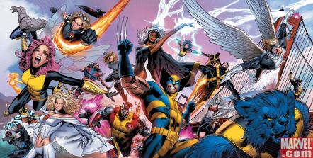 Wolverine, beast, Storm, Cyclops, Emma Frost, Colossus and other X-Men