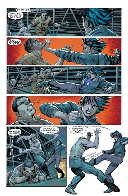 Attempted Gang-Rape in DC's Sword of Sorcery #0