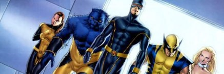 Cyclops, Beast, Wolverine, Emma Frost, and Kitty Pryde as the Astonishing X-Men
