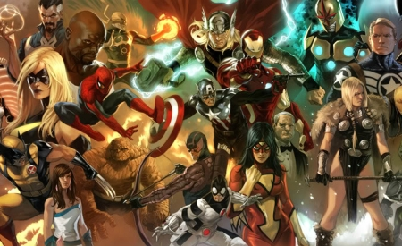 Captain America, Thor, Iron Man, Wolverine, Spider-man and more Avengers