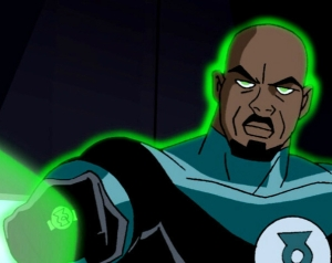 Green Lantern from the animated Justice League series