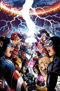 Captain America, Spider-Man, Iron Man and crew against Cyclops and the X-Men