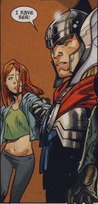 Thor grabs Hope in AvX #6