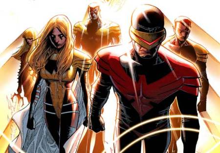 Cyclops, Emma, Namor, Magik, and Colossus as the Phoenix Five