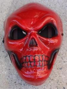 Robber's mask seemingly based of Marvel super villian