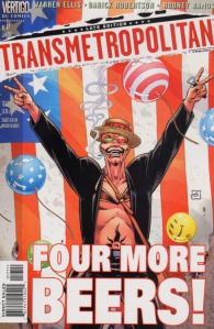 Spider Jerusalem on the cover of  Transmetropolitan