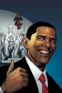 Obama and Spiderman Comic