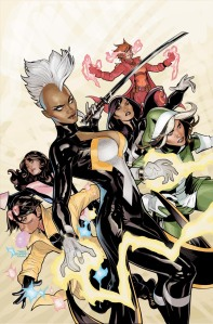 Jubliee, Storm, Kitty Pryde, Rogue, Rachel Grey, and Psylocke on X-Men #1