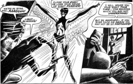 The Butterfly, the first black superheroine, in action