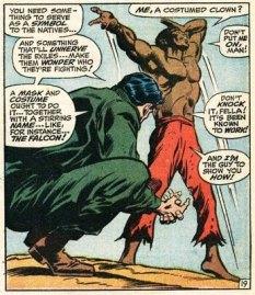 Captain America convinces Sam Wilson to become the Falcon