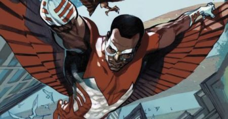 Sam Wilson is the first African-American superhero in comincs