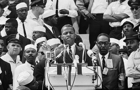 John Lewis (age 23) was the youngest keynote speaker at the 1963 March on Washington