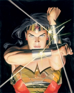 The Superheroine Wonder Woman, painted by Alex Ross