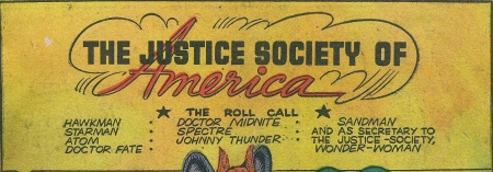 Wonder Woman listed at the JSA's secretary