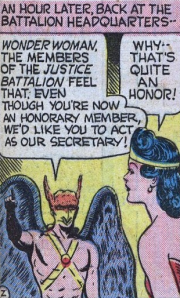Wonder Woman becomes the JSA's secretary