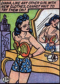 Steriotypes about women in Wonder Woman #1 (1942)