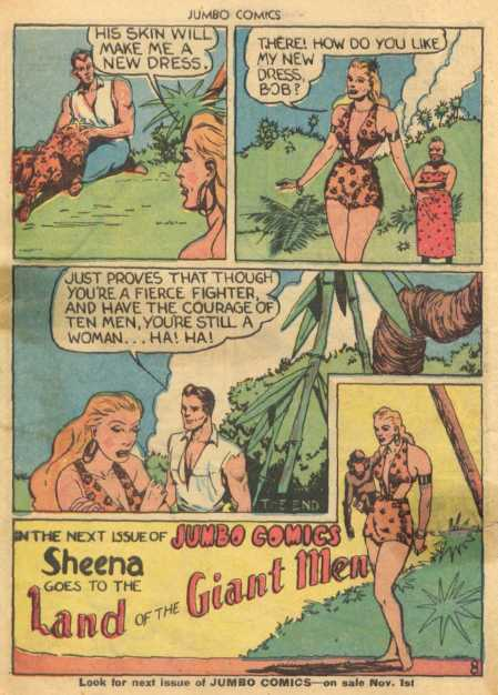 Sheena after making her iconic leopard costume