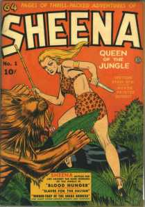 Sheena is the first female character to star in her own comic