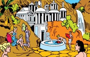 Wonder Woman's home of Paradise Island