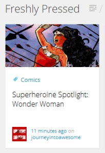 Superheroine Spotlight: Wonder Woman Freshy Pressed
