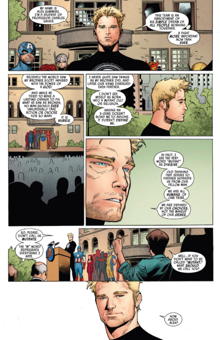 "Havok's ""M-Word"" Speech in Uncanny Avengers #5"