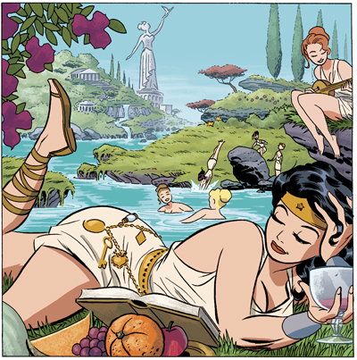 "Wonder Woman and Paradise Island from ""DC: The New Frontier"""