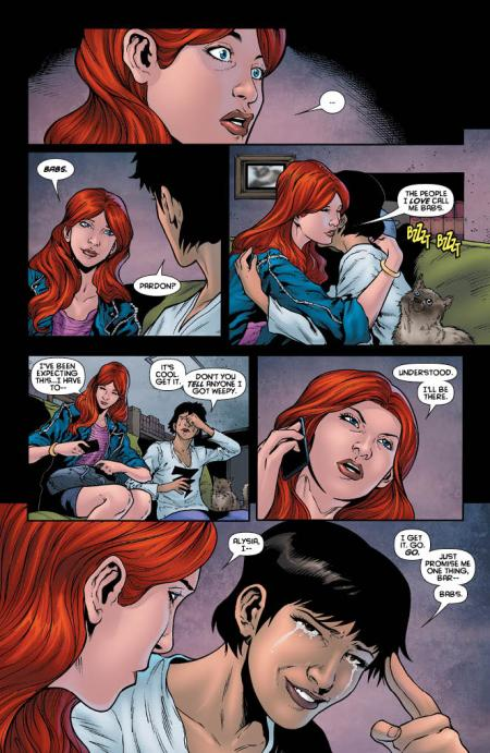 written by Gail Simone, art by Daniel Sampere and Vicente Cifuentes