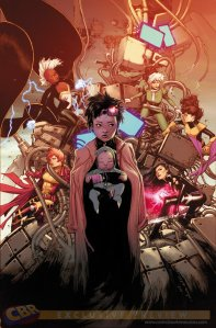 Jubilee, Kitty Pryde, Storm, Rogue, Rachel Summers, and Psylocke on the cover X-Men Vol 4 #2