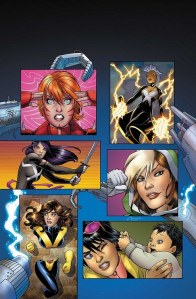 X-Men Vol 4 #2 cover with Jubilee, Kitty Pryde, Storm, Rogue, Rachel Summers, and Psylocke