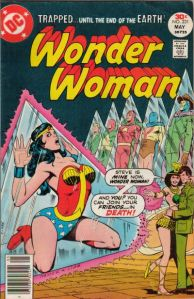 Wonder Woman trapped with her chest sticking out