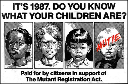 Mutant Oppression ad from 1987