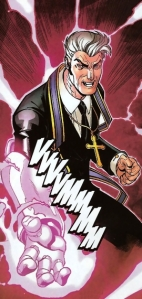 "The Purifier Reverend William Stryker with Nimrod's hand from ""New X-Men"""