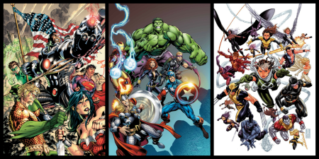 Justice League, Avengers, and X-Men Superhero Census