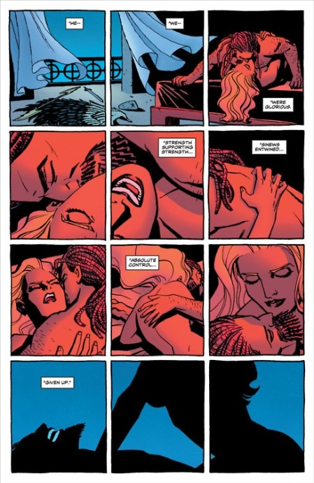 Hippolyta sexually dominates Zeus in Wonder Woman #3 by Brian Azzarello and Cliff Chiang