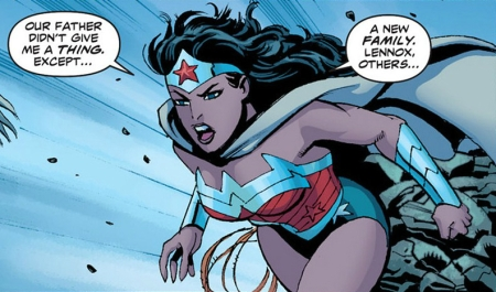 Wonder Woman talks to Siracca
