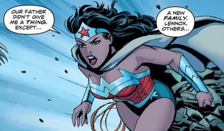 Wonder Woman talks to Siracca