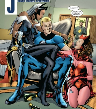 Image result for Johnny Storm girlfriends