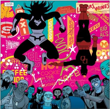 She-Hulk and Daredevil attack thugs