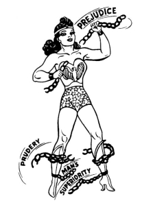 Wonder Woman by H. G. Peters in The American Scholar
