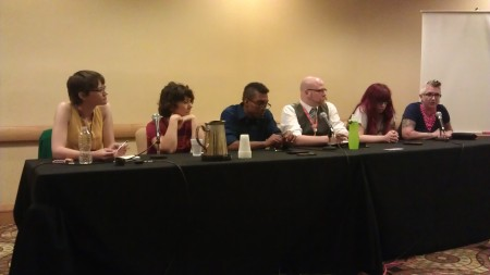 Kari Storla, Vickie Willis Kelly, John Flowers, Daniel Amrhein, Kelly Sue DeConnick, and Laurenn McCubbin DragonCon 2014