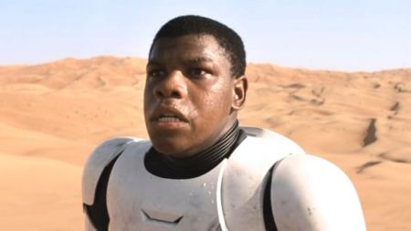 John Boyega as Finn in Star Wars VII The Force Awakens
